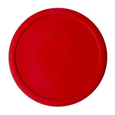 Pyrex 2.5-Qt Round Plastic Lid, Red