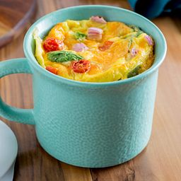 20-oz Hammered Aqua Meal Mug™ w/ Vented Lid with Quiche