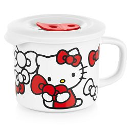 Hello Kitty 20-ounce Meal Mug with Vented Lid on Top