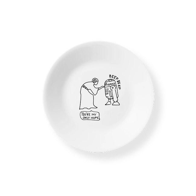 "6.75"" Appetizer Plate: Star Wars™ - Princess Leia™/ R2-D2™"