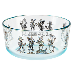 Day of the Dead 7-cup Glass Food Storage Container