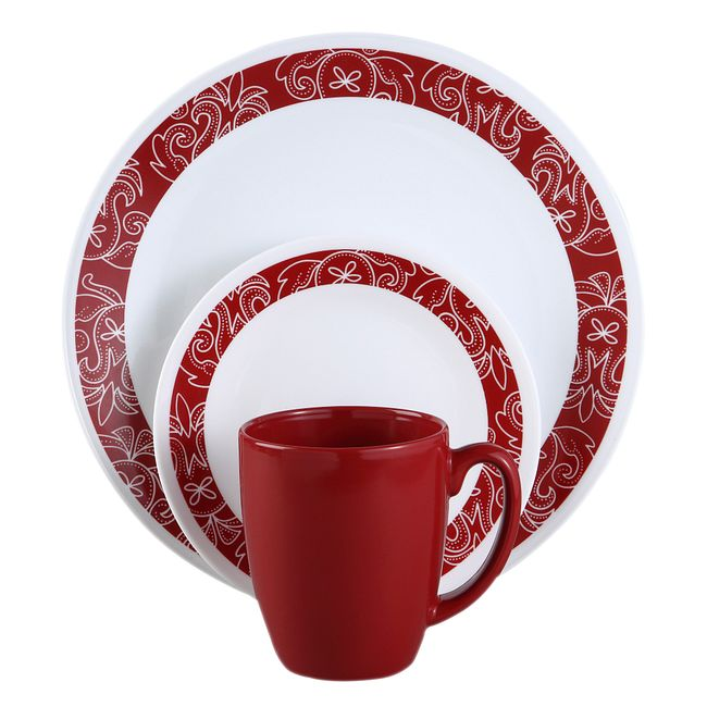 Bandhani 16-piece Dinnerware Set, Service for 4