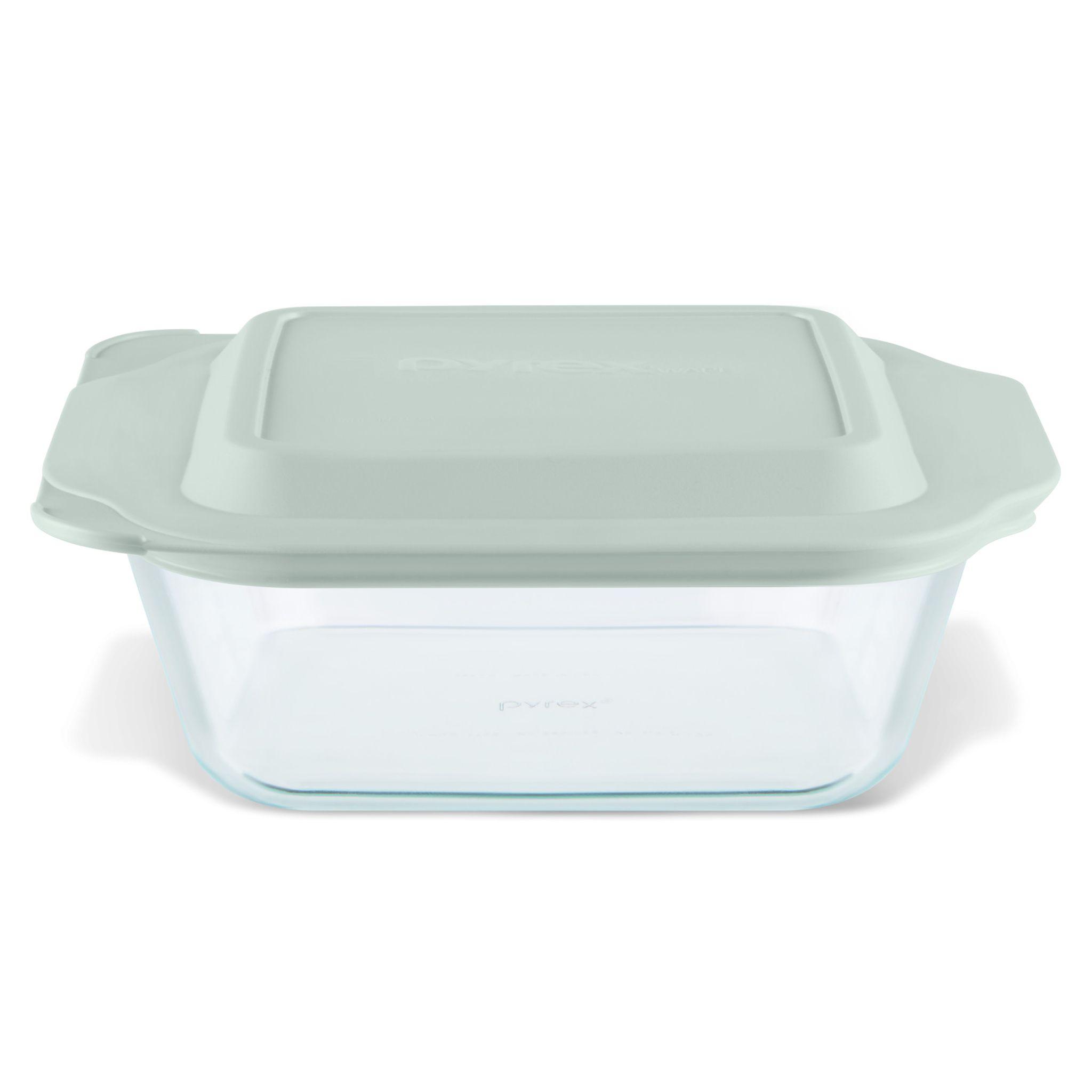 PyrexR 8 X 27 Square Deeper Baking Dish W Sage Lid