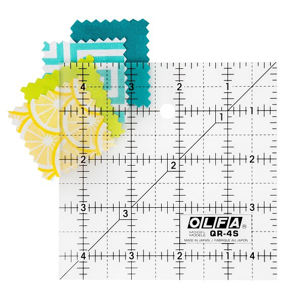4-1/2″ Square Frosted Acrylic Ruler (QR-4S)