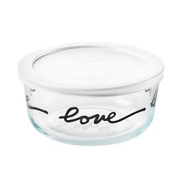 Simply Store 4 Cup Celebrations Love Storage Dish with White Lid