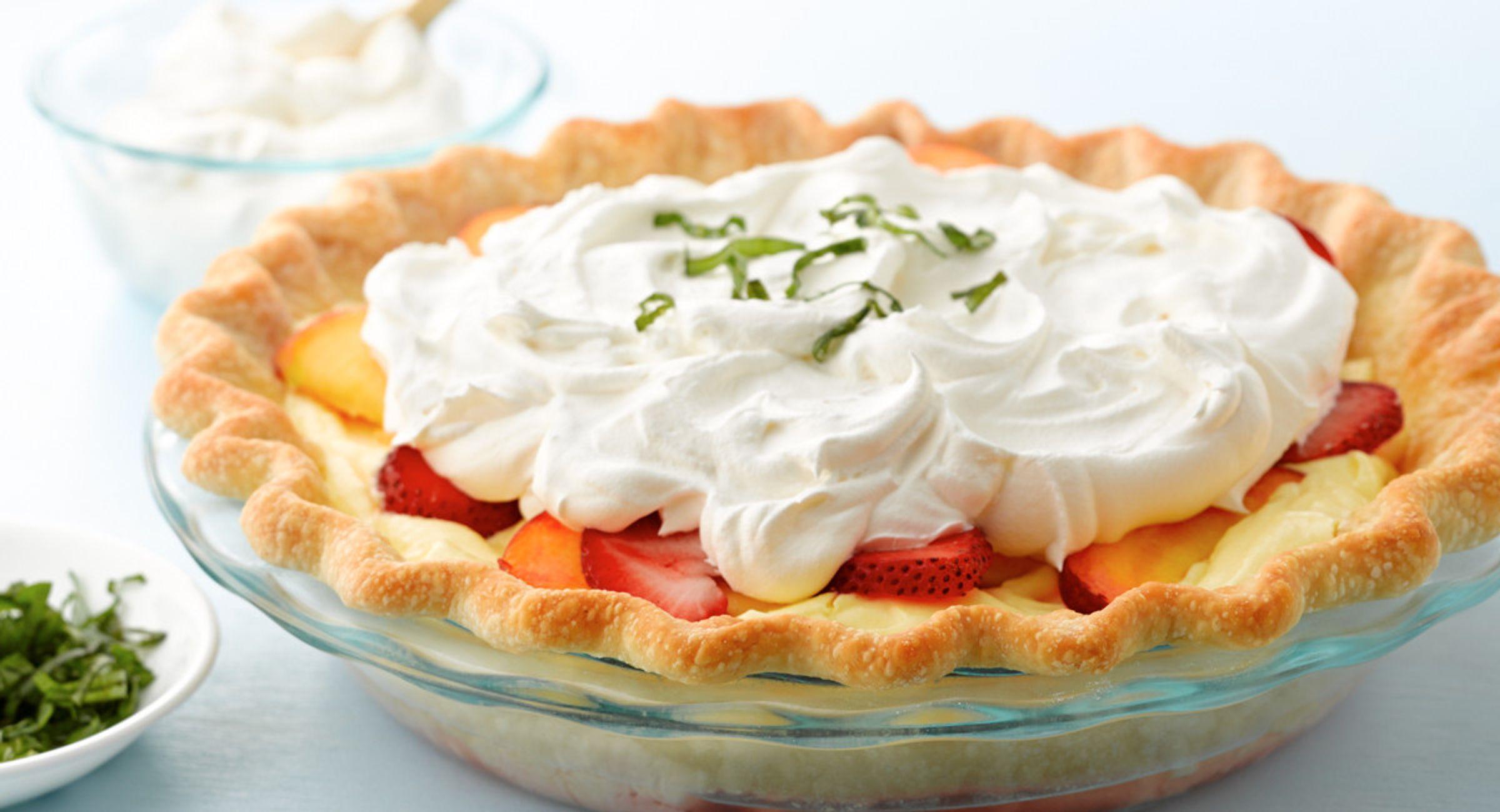 Balsamic Nectarine-Strawberry Lemon Pie