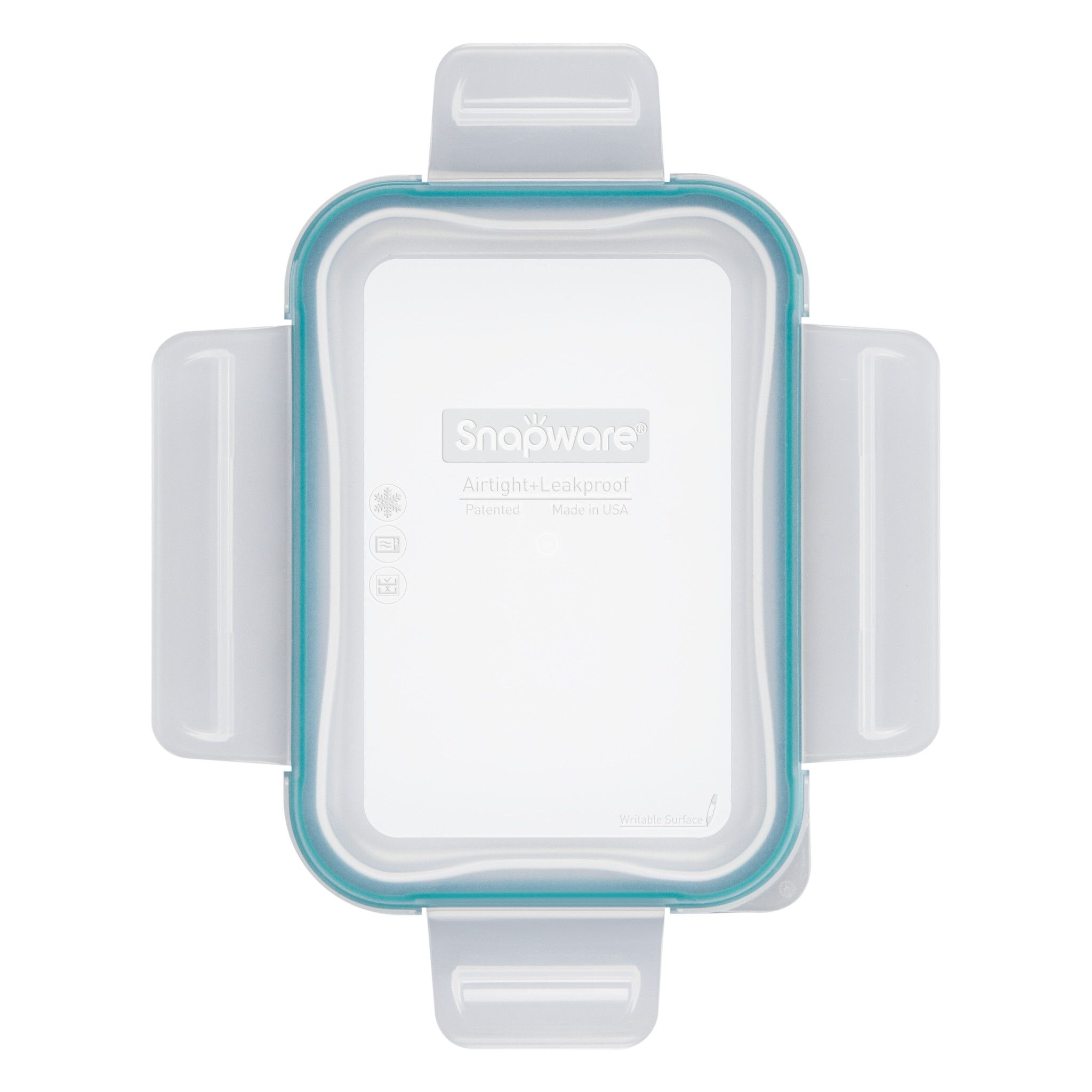 Total Solutions Rectangle Small Plastic Lid with Green Seal