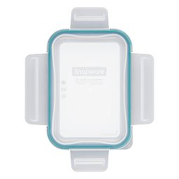 Total Solutions Rectangle Plastic Lid with Juniper Green Seal