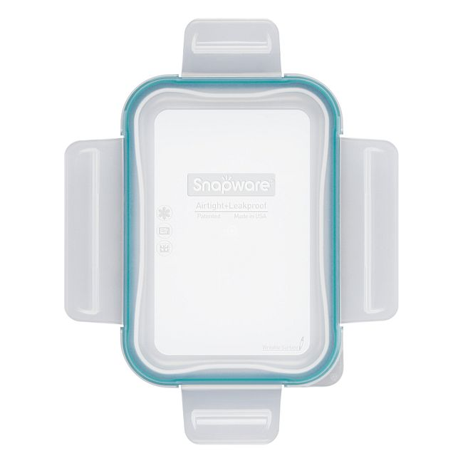Total Solutions™ Rectangle Small Plastic Lid w/ Green Seal