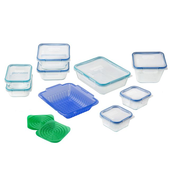 19-piece Food Storage Container Set made with Pyrex Glass