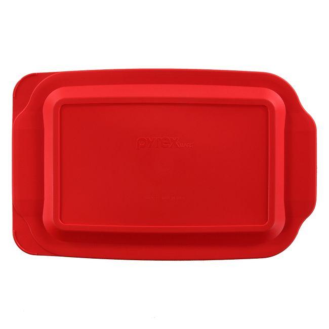 Red Lid for 3-quart Rectangular Glass Baking Dish