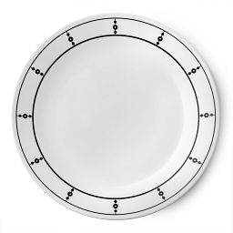 "Livingware™ Pearls 10.25"" Plate  Black  &  White"