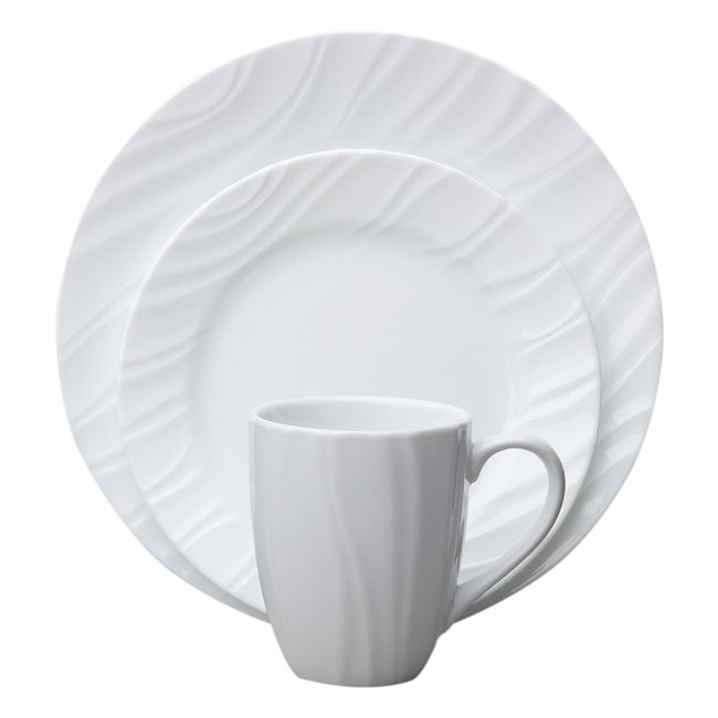Swept 16-piece Dinnerware Set, Service for 4
