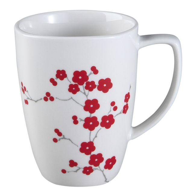 Square Hanami Garden 12-oz Porcelain Mug