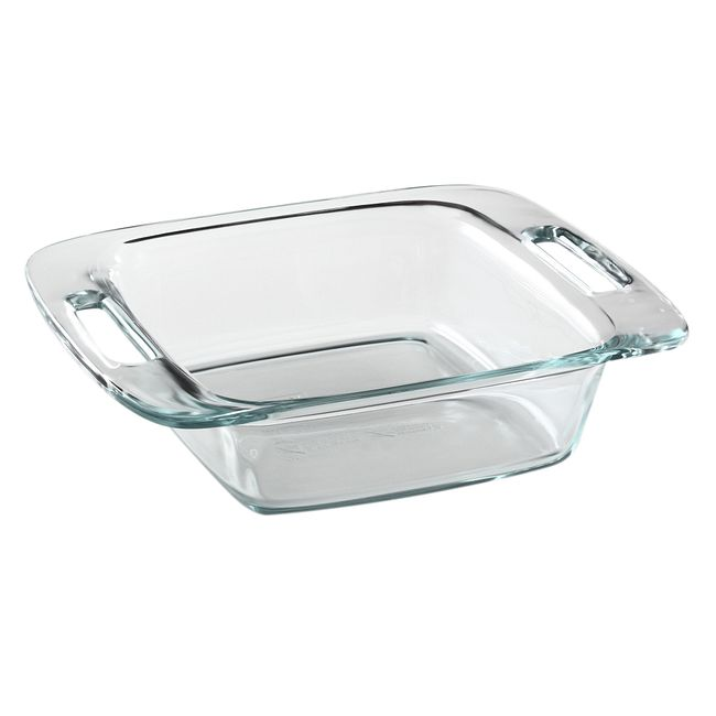 "Easy Grab 8"" Square Glass Baking Dish"