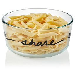 Celebrations Live 7-cup Glass Food Storage Container with pasta inside