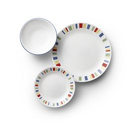 Memphis 18-pc Dinnerware Set Top View