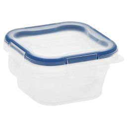 Total Solution™ Plastic Food Storage 1.34 Cup  Square with lid on