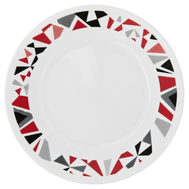 Mosaic Red 16-piece Dinnerware Set, Service for 4