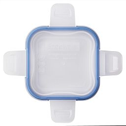 Total Solutions™ Square Small Plastic Lid w/ Blue Seal