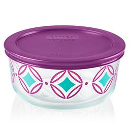 Diamonds 4-cup Glass Food Storage Container (Lid Sold Separately)