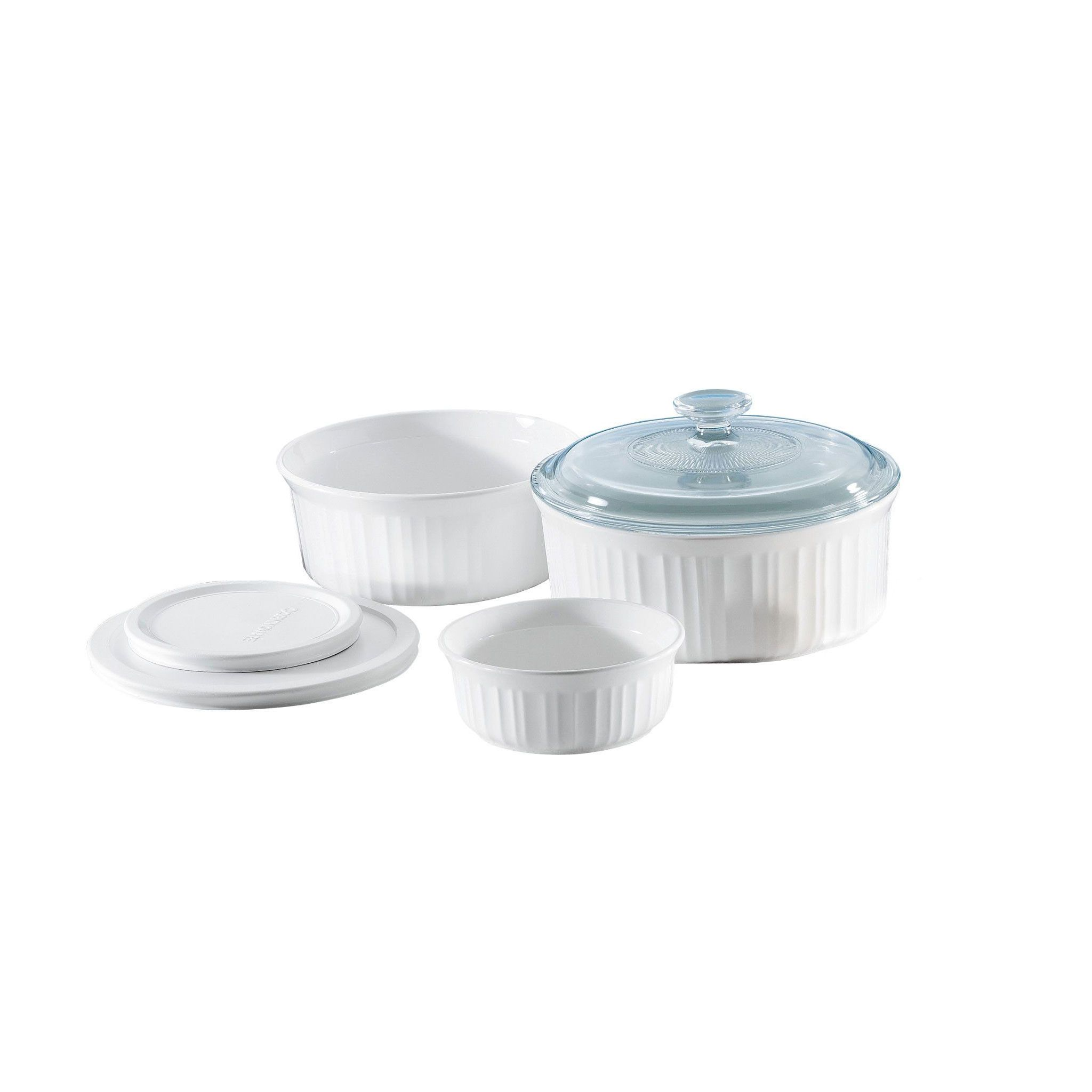 French White 6 Piece Bakeware Set Corelle