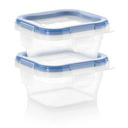 Total Solution™ Plastic Food Storage 2 pack  Square side view