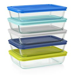 Simply Store 10-piece Meal Prep Glass Storage Set