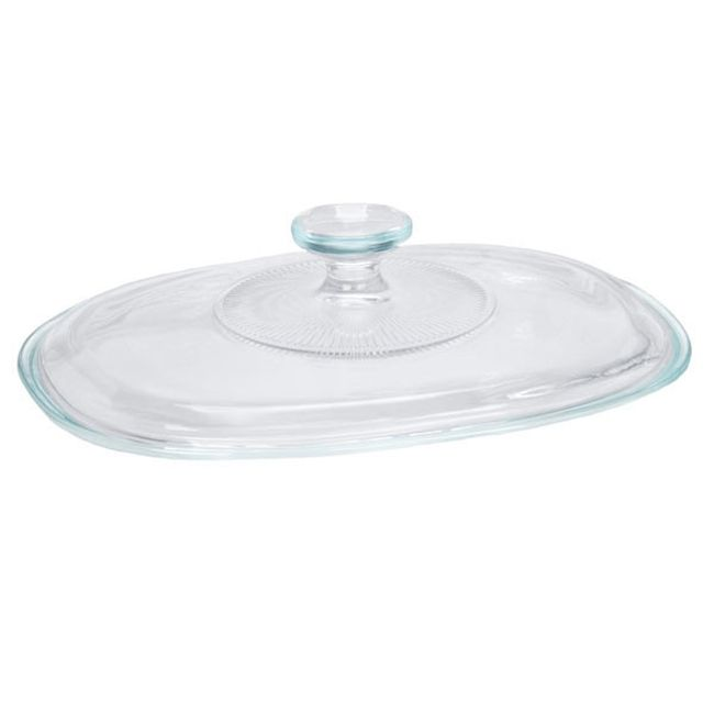 French White Glass Lid for 2.5-quart Baking Dish