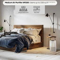 Instant Air Purifier, Medium, Pearl