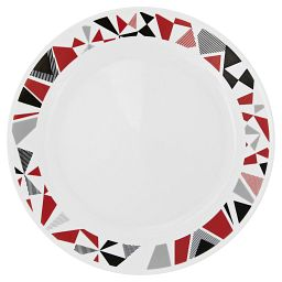 "Livingware™ Mosaic Red 10.25"" Plate"