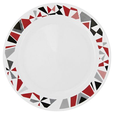 "Corelle Livingware Mosaic Red 10.25"" Plate"