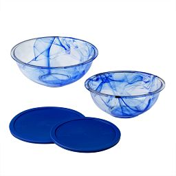 Watercolor Blue 4-pc Mixing Bowl Set