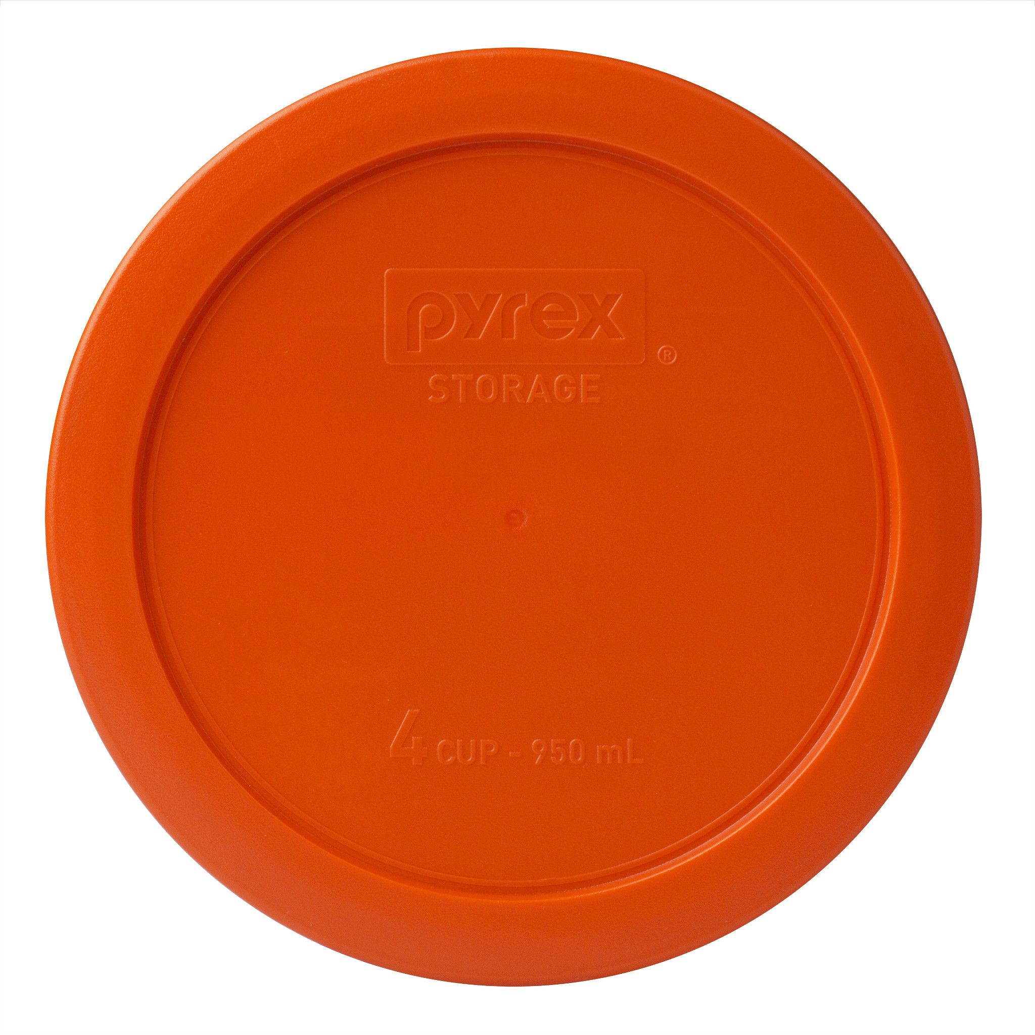 Orange Lid for 4-cup Glass Food Storage Container