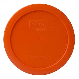 4 Cup Round Plastic Lid  Orange