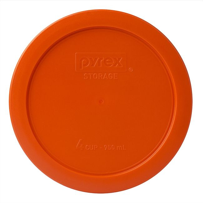 4 Cup Round Plastic Lid, Orange
