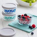 Snacktastic 6-piece Glass Food Storage Container Set with Gray Lids