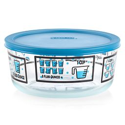 Kitchen Conversions 7-cup Food Storage Container with Blue Lid