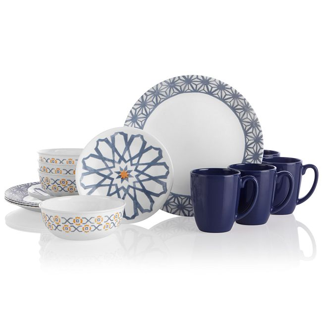 Amalfi Azul 16-piece Dinnerware Set, Service for 4