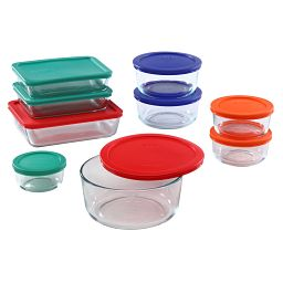 Simply Store 18-pc Set with Multi-Colored Lids