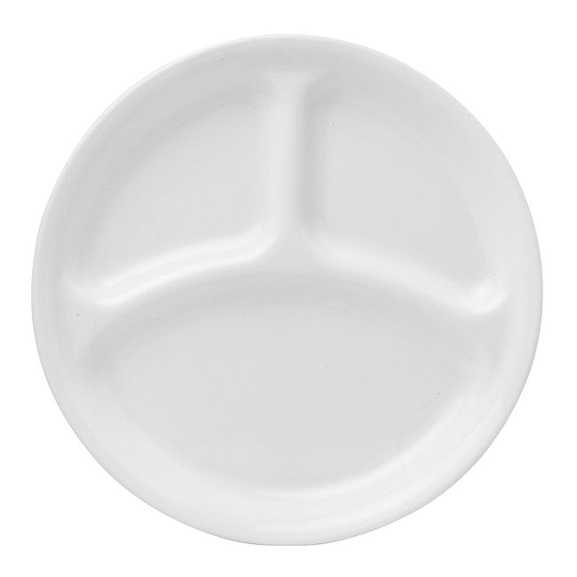 "Winter Frost White 10.25"" Divided Dinner Plate"