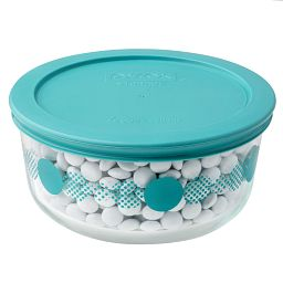 4 Cup Turquoise Rings of Neptune Storage Dish w/ Candies