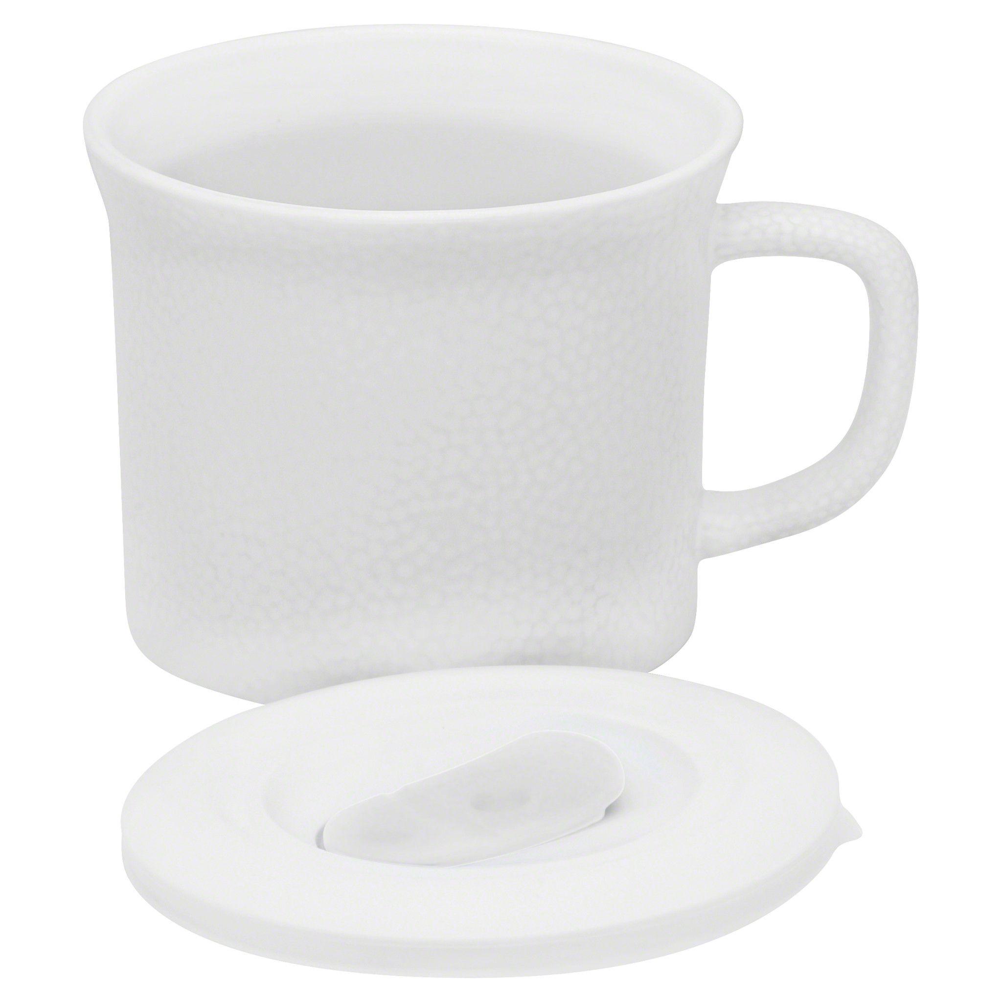 Corningware 20-Oz Hammered Powder Meal Mug W/ Vented Lid