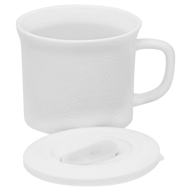 20-ounce Hammered White Meal Mug™ with Lid