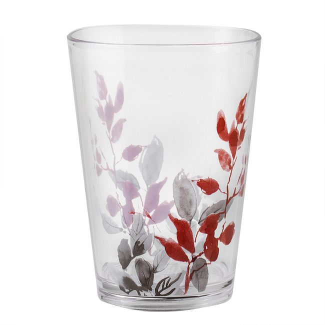 Kyoto Leaves 8-ounce Acrylic Drinking Glass