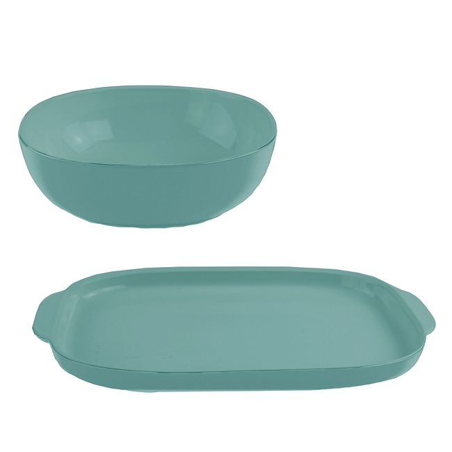 2-piece Serving Set, Pool Blue