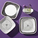 Imani Square 18-piece Dinnerware Set, Service for 6