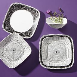 Square Imani 18-piece Dinnerware Set, Service for 6 on the table