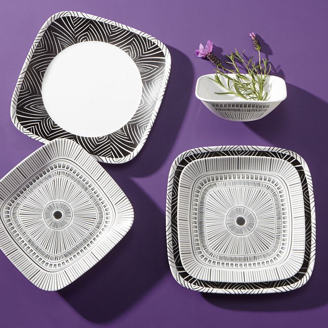 Imani Square 18-piece Dinnerware Set, Service for 6