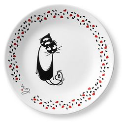 "Loving Cats Cuddle 6.75"" Appetizer Plate"